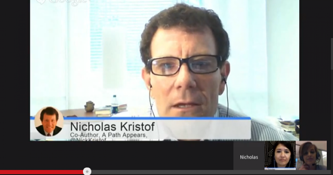 Girls' Globe speaks with Nick Kristof!