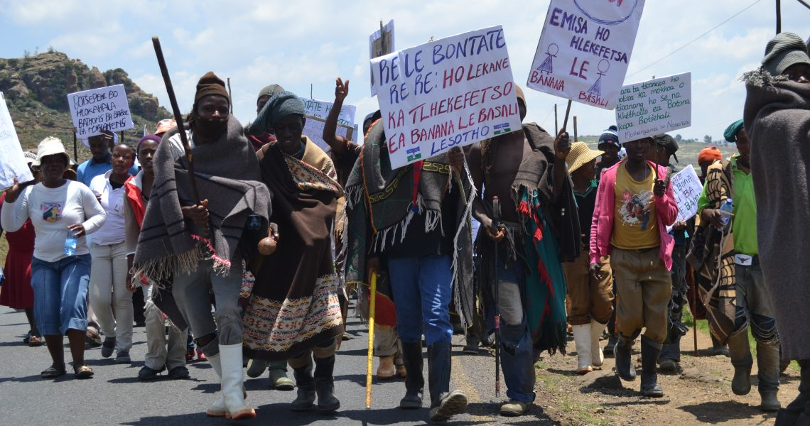 Marching for Change in Rural Lesotho